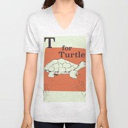 T for Turtle Unisex V-Neck