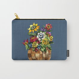 A Basket of Happy Flowers Carry-All Pouch