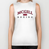 boxing Biker Tanks featuring Boxing by EastwardCarrot