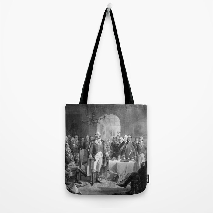 Washington Meeting His Generals Tote Bag