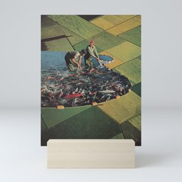 Salmon Farm Mini Art Print