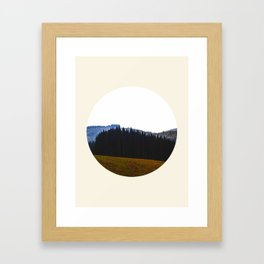 Edge Of The Forest Landscape Round Photo Framed Art Print