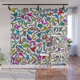 Bodies, Figures, Karate, Rainbow Wall Mural