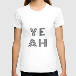 Yeah - minimal black T-shirt