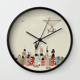 visit cleveland ohio Wall Clock