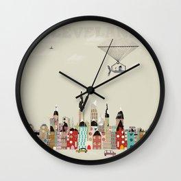 visit cleveland ohio Wall Clock