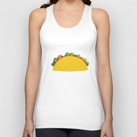 taco Tank Tops featuring Taco  by Beautiful Artworks
