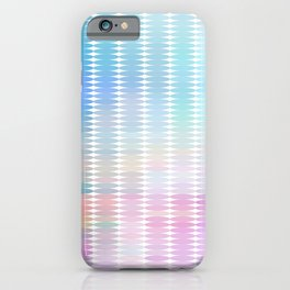 Soft Pastel Oval Geometric Abstract iPhone Case