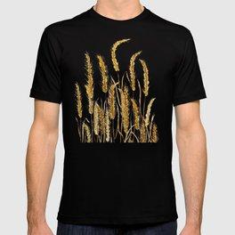 golden wheat field watercolor T-shirt