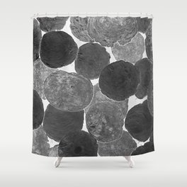 Abstract Gray Shower Curtain