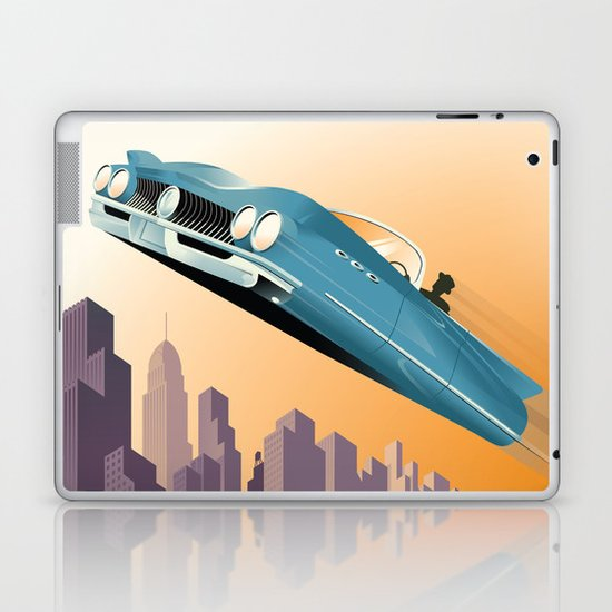 Dude, Where's My Flying Car? Laptop & iPad Skin