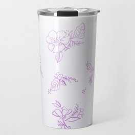 beautiful,violet,floral,shabby chic,pattern,french chic, country chic, vintage, Travel Mug