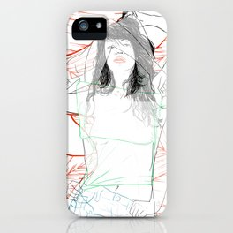 RED STRIP (combine series) iPhone Case
