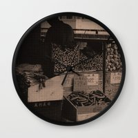 food Wall Clocks featuring FooD by Christophe Chiozzi