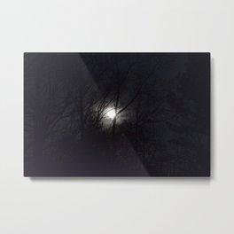hazy moon through trees Metal Print