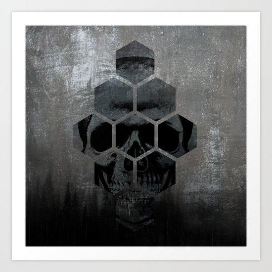 Skull texture Art Print