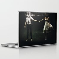 man Laptop & iPad Skins featuring abyss of the disheartened : IX by Heather Landis