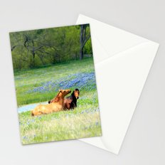 Horses & Bluebonnets Stationery Cards