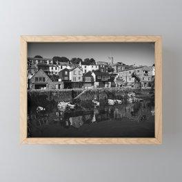 Falmouth Mono Reflections  Framed Mini Art Print