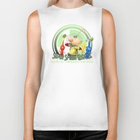 super smash bros Biker Tanks featuring Olimar - Super Smash Bros. by Donkey Inferno
