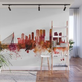 Rotterdam The Netherlands Skyline Wall Mural