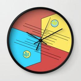 blueyellow Wall Clock
