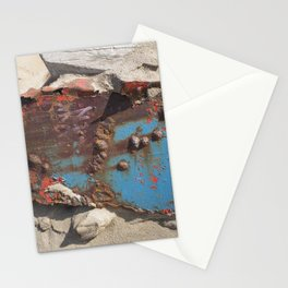 COLLAGE OF DECAY BOAT WRECK ABSTRACT Stationery Cards