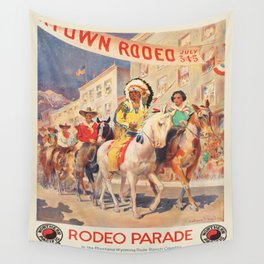 Vintage poster - Rodeo parade Wall Tapestry