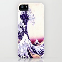 The Great wave purple fuchsia iPhone Case
