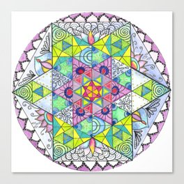 Magnetic Energy Mandala Canvas Print