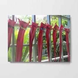Palm Fronds Lounging Metal Print