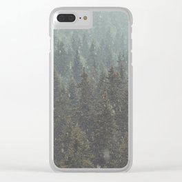 Summer hailstorm Clear iPhone Case