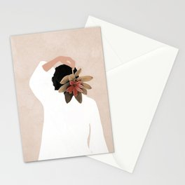 With a Flower Stationery Cards