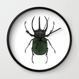 Atlas Beetle Insect Digital Watercolor Wall Clock