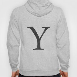 Letter Y Initial Monogram Black and White Hoody