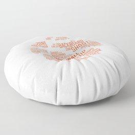 Basketball Word Ball Streetball Gift For Basketball Players Floor Pillow
