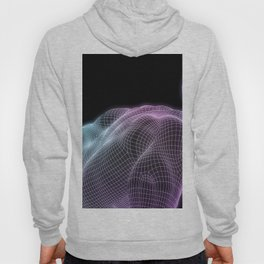 Human Body Digital Visualization Running Forward Art Hoody