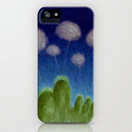 Hills and Clouds iPhone Case