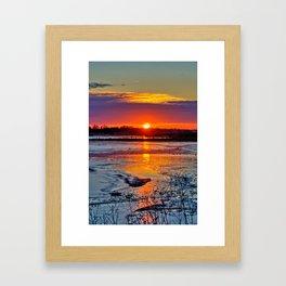 Reflective Evenings Framed Art Print