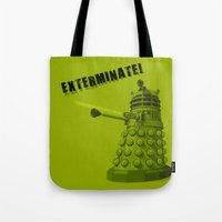 dalek Tote Bags featuring Dalek by Digital Arts & Crafts by eXistenZ