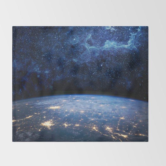 Earth and Galaxy Throw Blanket
