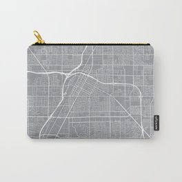 Las Vegas Map, Nevada USA - Pewter Carry-All Pouch