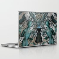 tim burton Laptop & iPad Skins featuring Tim Burton by Sofia Perina-Miller