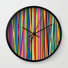 STRIPES STRIPES STRIPES Wall Clock