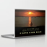 cape cod Laptop & iPad Skins featuring cape cod bay sunset by marie grady palcic