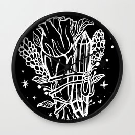 Witchy Cleansing Rose Smudge, Crystal & Lavender Wall Clock