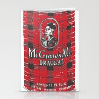 ale giorgini Stationery Cards featuring McGraws Ale by Moto