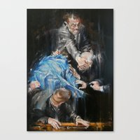 inner demons Canvas Prints featuring Demons by Tatiana Ivchenkova