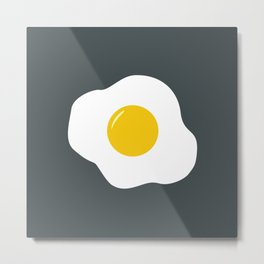 Easter Egg (gray) Metal Print