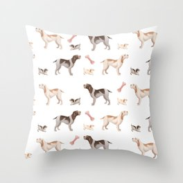 Italian Spinone Pattern Throw Pillow